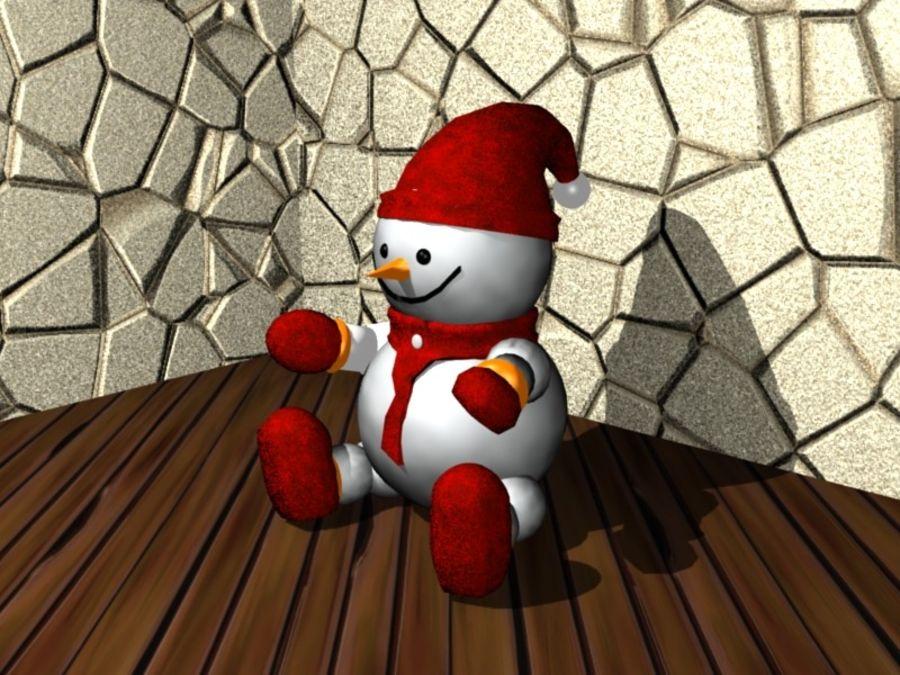 Xmas Snowman royalty-free 3d model - Preview no. 2
