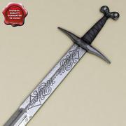 中世の刀 3d model