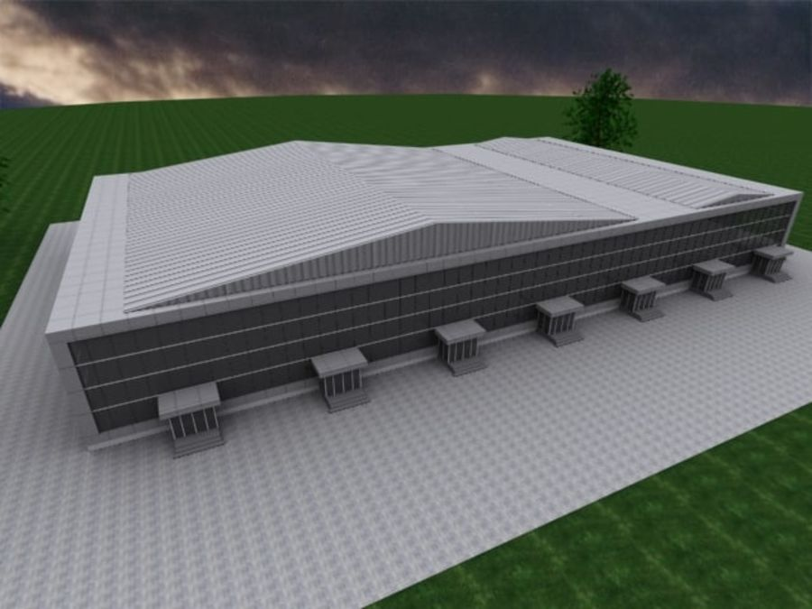 warehouse royalty-free 3d model - Preview no. 3