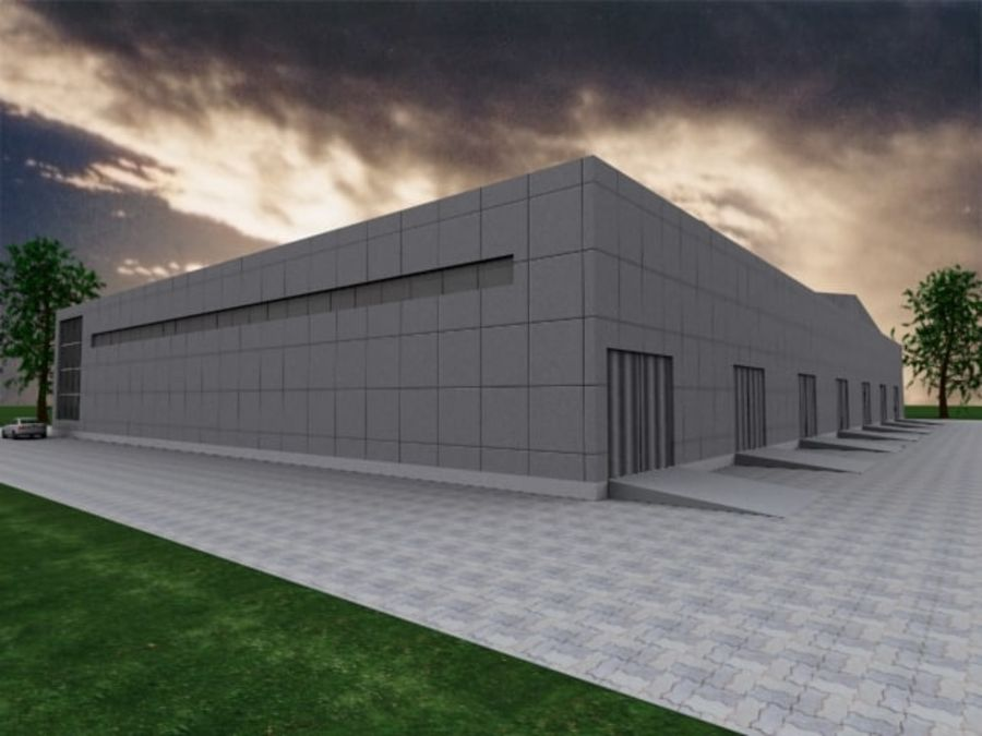 warehouse royalty-free 3d model - Preview no. 1