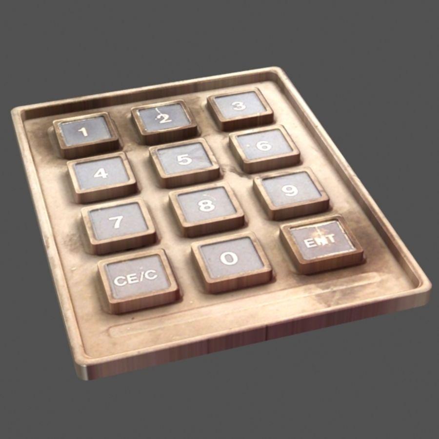 ボタンコンソール1 royalty-free 3d model - Preview no. 2