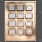 Düğme Konsolu 1 3d model