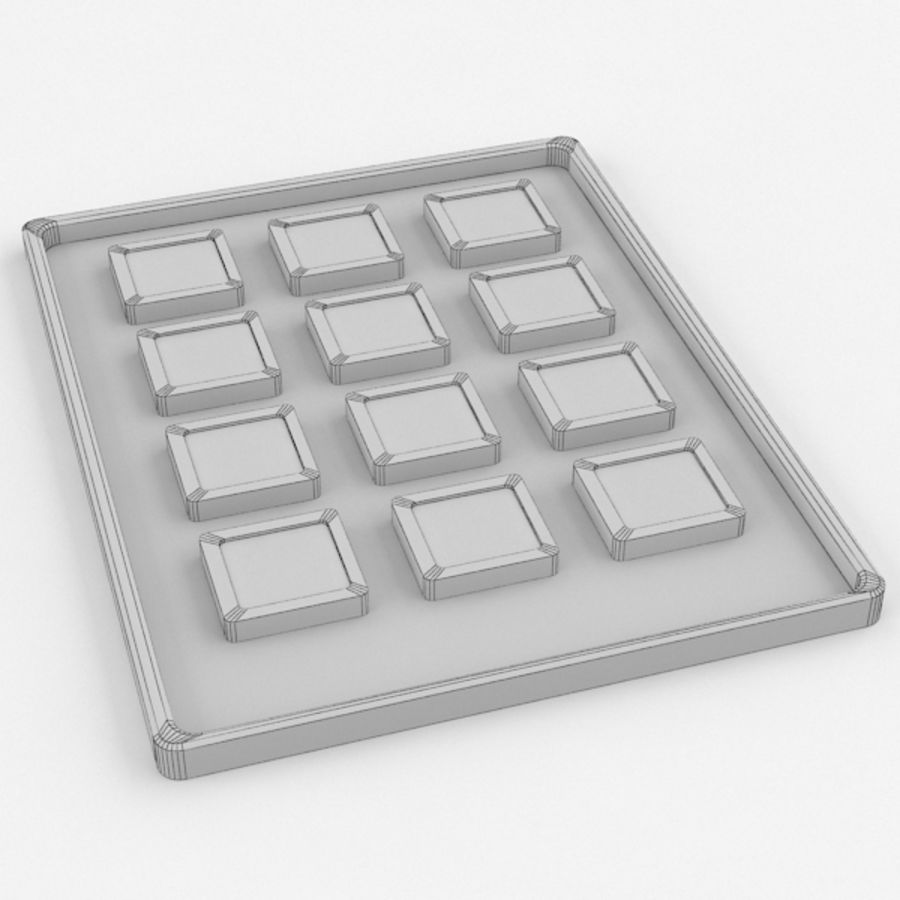 Button Console 1 royalty-free 3d model - Preview no. 4