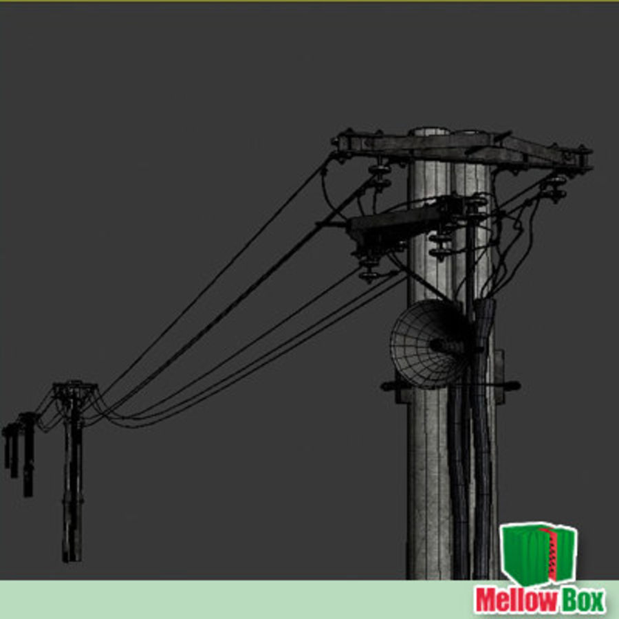 Power line royalty-free 3d model - Preview no. 4