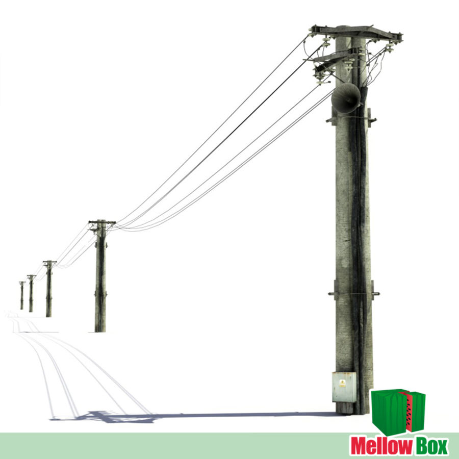 Power line royalty-free 3d model - Preview no. 1