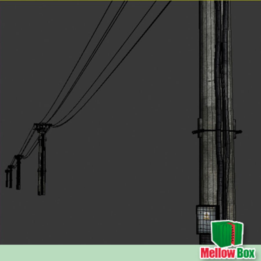Power line royalty-free 3d model - Preview no. 5