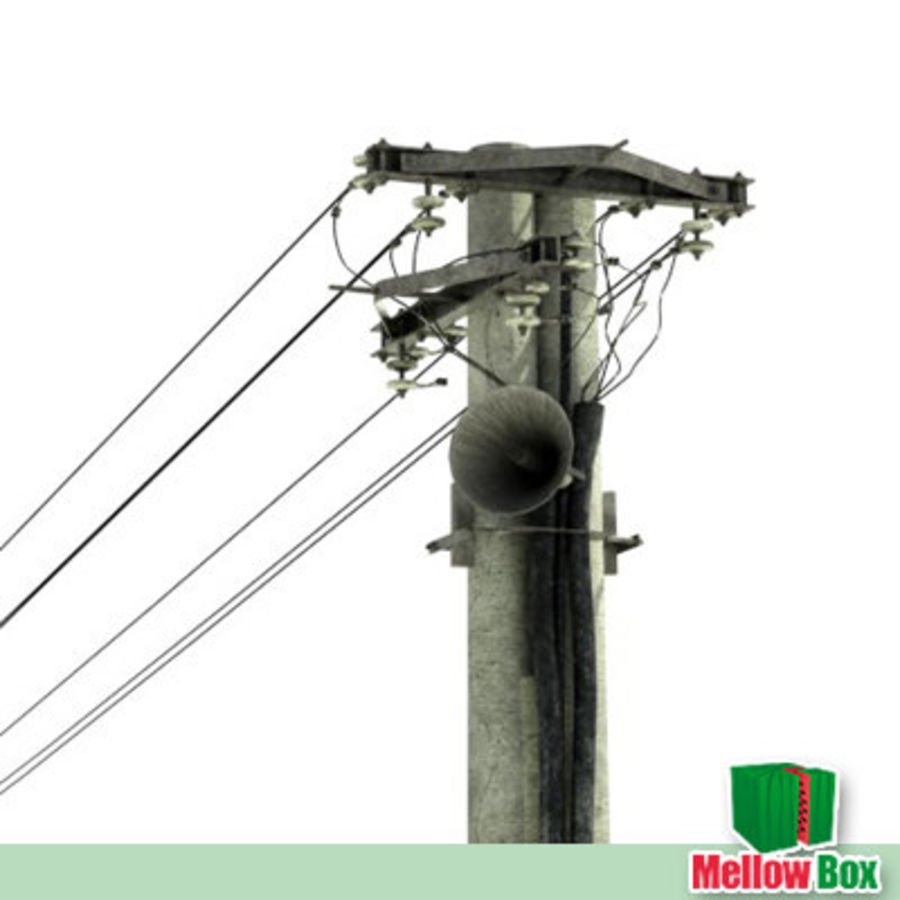 Power line royalty-free 3d model - Preview no. 2