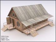 Cottage V, Interiors, Textured 3d model