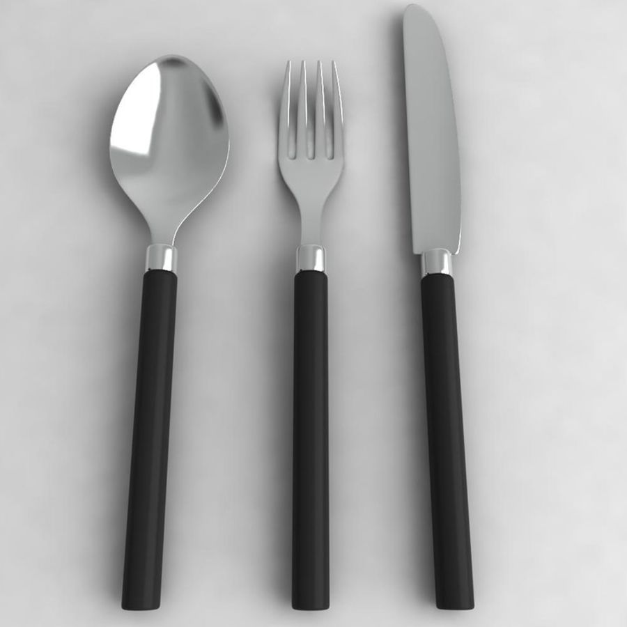 Knife-Spoon- Fork royalty-free 3d model - Preview no. 2