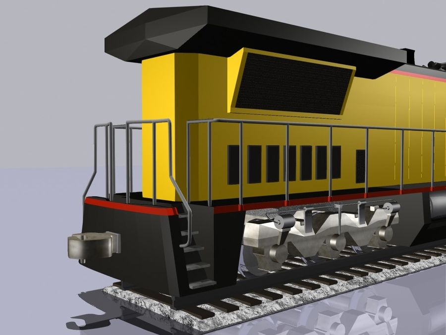 GE C41-8 locomotief royalty-free 3d model - Preview no. 5