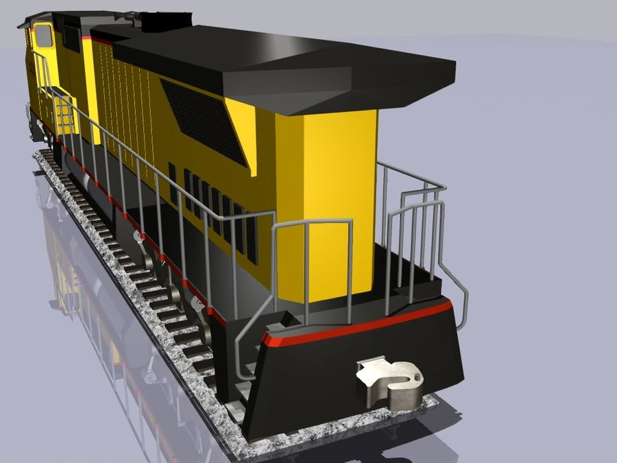 GE C41-8 locomotief royalty-free 3d model - Preview no. 6