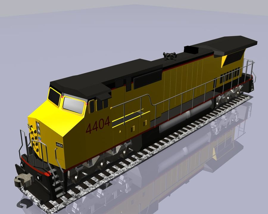GE C41-8 locomotief royalty-free 3d model - Preview no. 9