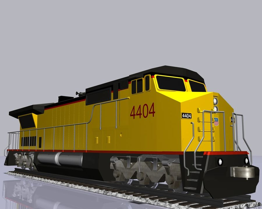 GE C41-8 locomotief royalty-free 3d model - Preview no. 8