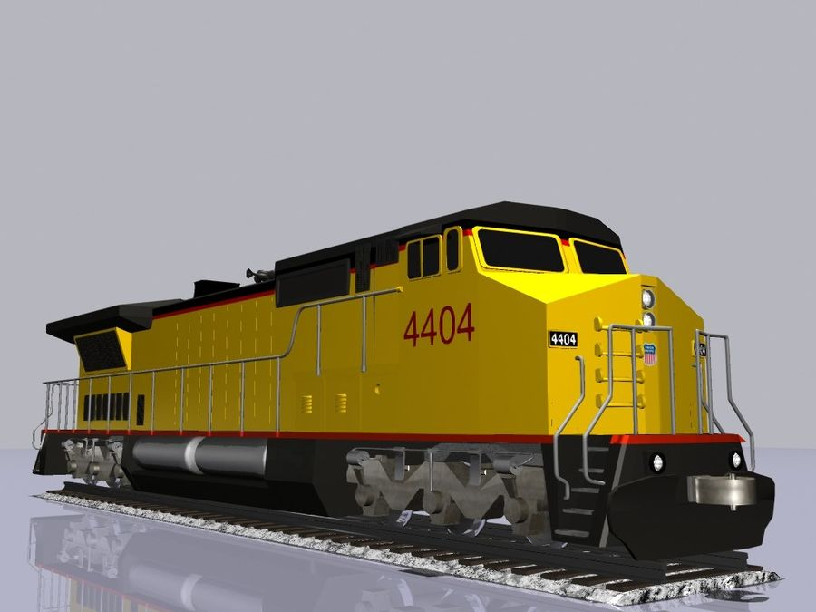 GE C41-8 locomotief royalty-free 3d model - Preview no. 2