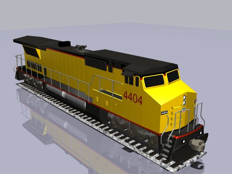 GE C41-8 locomotief royalty-free 3d model - Preview no. 3