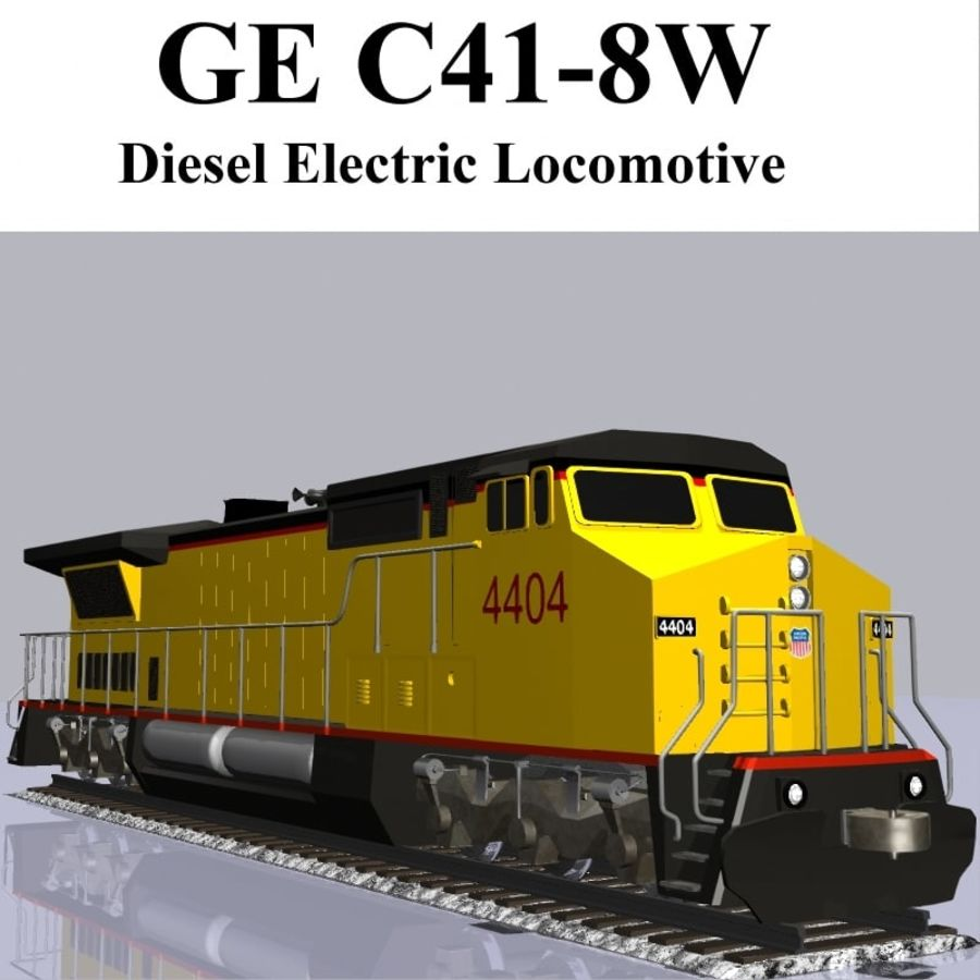 GE C41-8 locomotief royalty-free 3d model - Preview no. 1