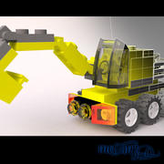 Lego Earthmover 3d model
