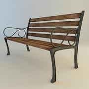 City Street Bench 3d model