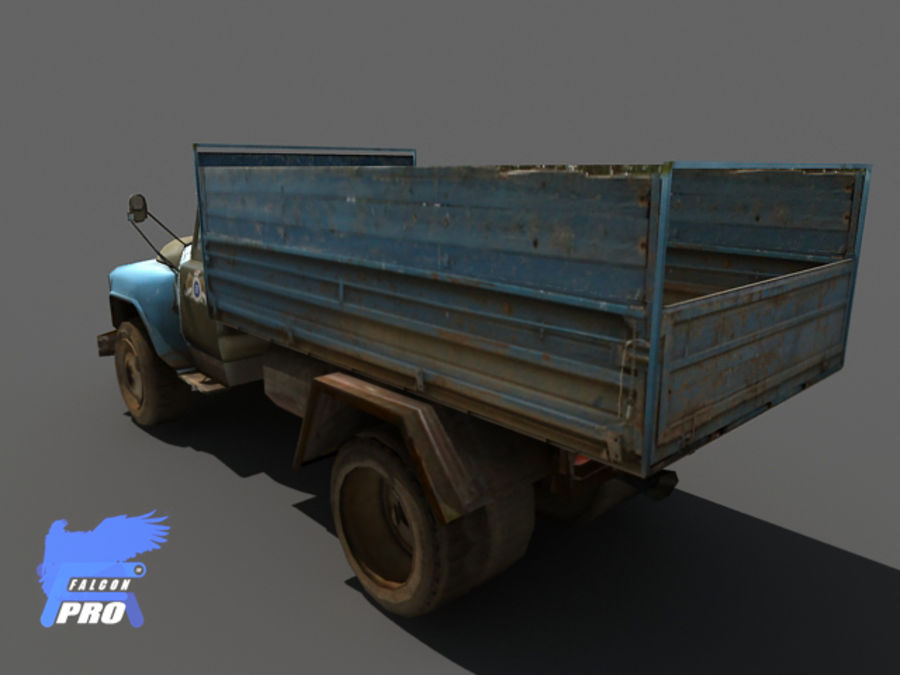 Gaz 1973 Kamyon royalty-free 3d model - Preview no. 2