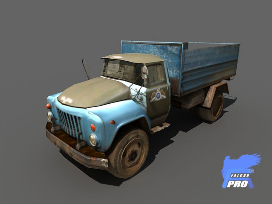 Gaz 1973 Kamyon royalty-free 3d model - Preview no. 3