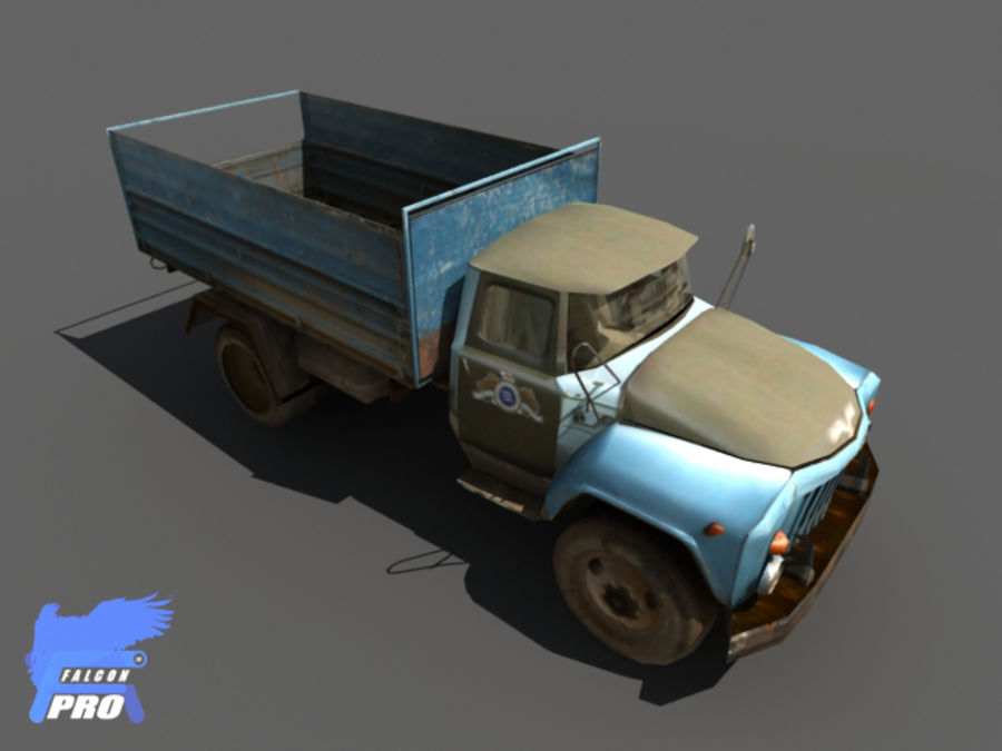 Gaz 1973 Kamyon royalty-free 3d model - Preview no. 4