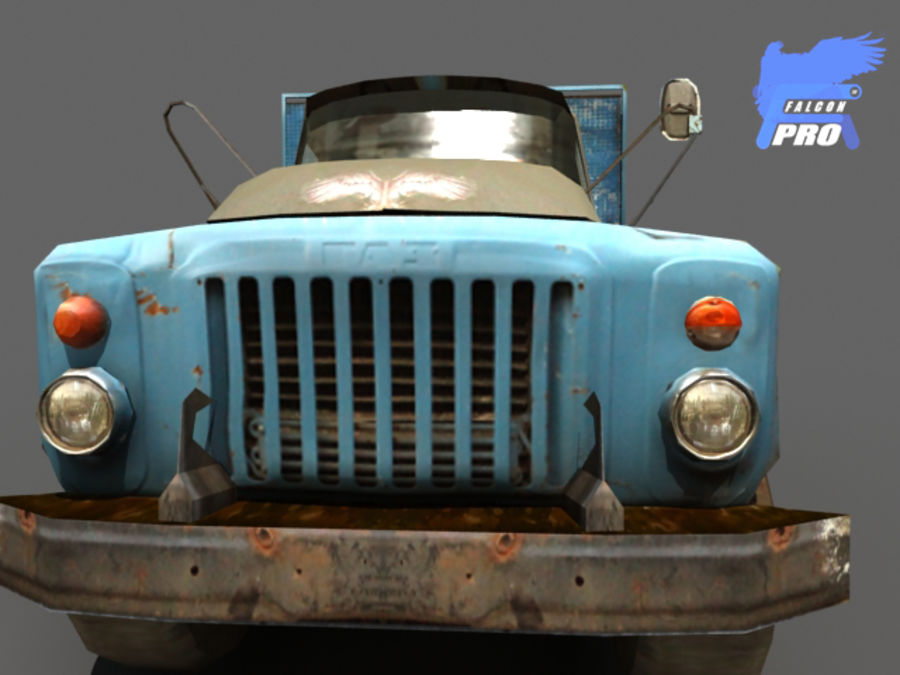Gaz 1973 Kamyon royalty-free 3d model - Preview no. 1