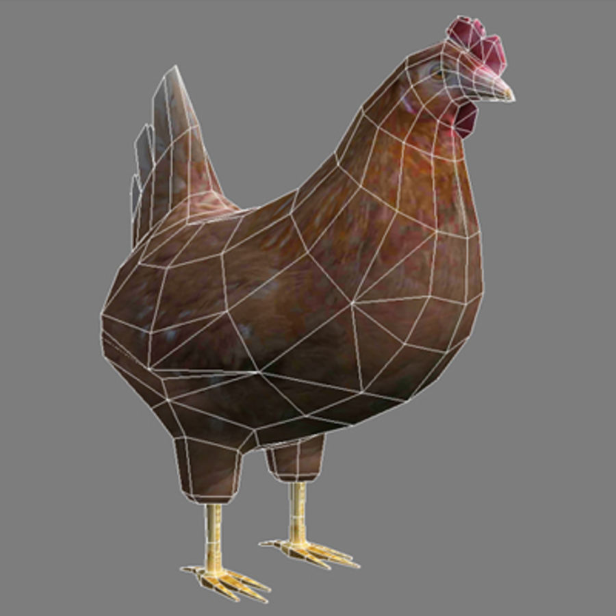 Chicken royalty-free 3d model - Preview no. 4