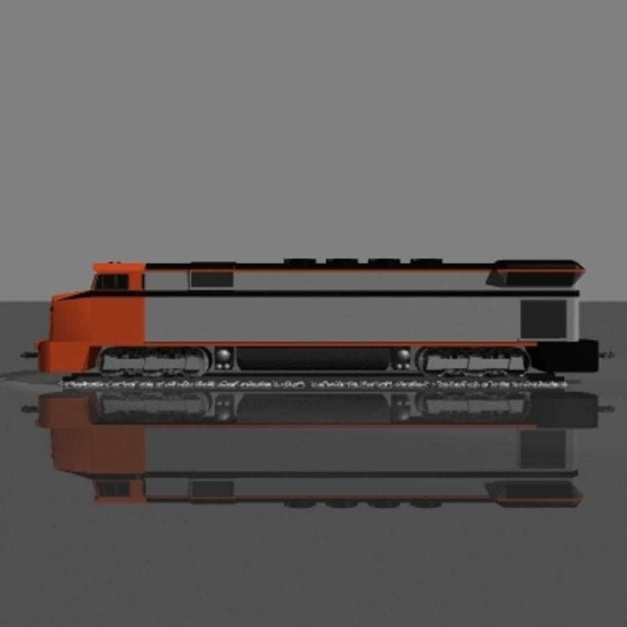 Lokomotywa spalinowo-elektryczna royalty-free 3d model - Preview no. 4