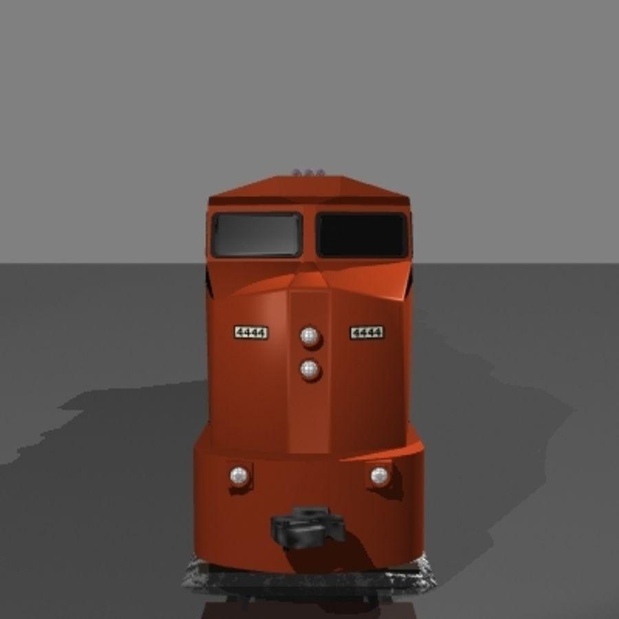 Lokomotywa spalinowo-elektryczna royalty-free 3d model - Preview no. 2