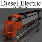 Diesel-Elektrisk lokomotiv 3d model