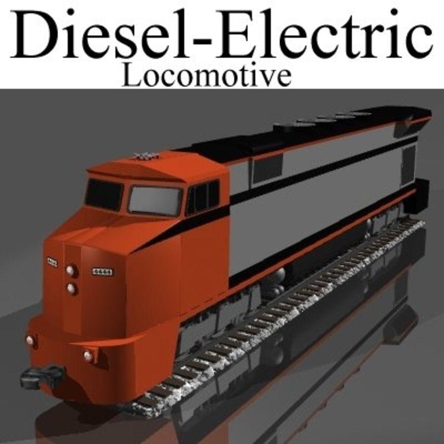Lokomotywa spalinowo-elektryczna royalty-free 3d model - Preview no. 1