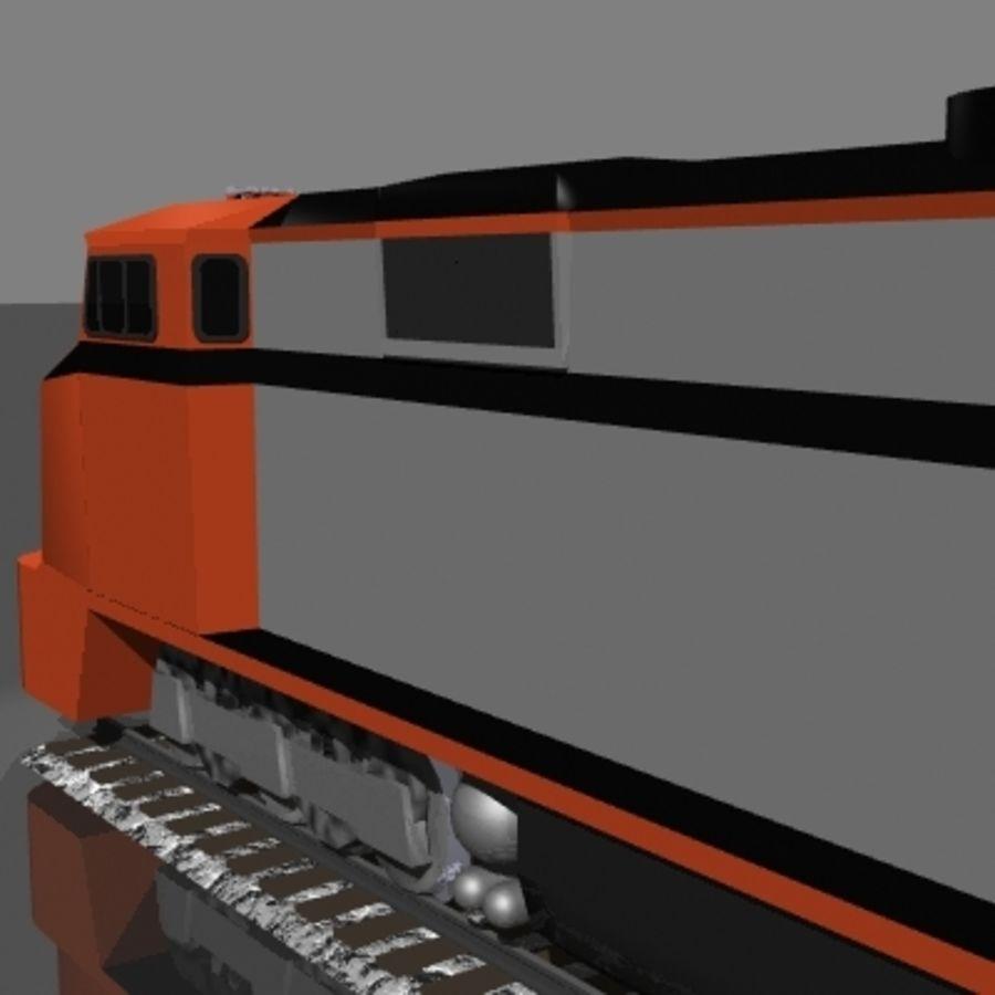 Lokomotywa spalinowo-elektryczna royalty-free 3d model - Preview no. 3