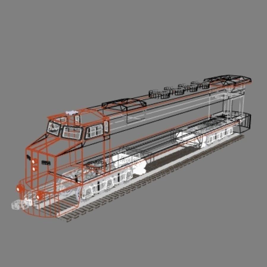 Lokomotywa spalinowo-elektryczna royalty-free 3d model - Preview no. 5