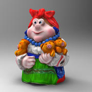 Woman and Pig 3d model