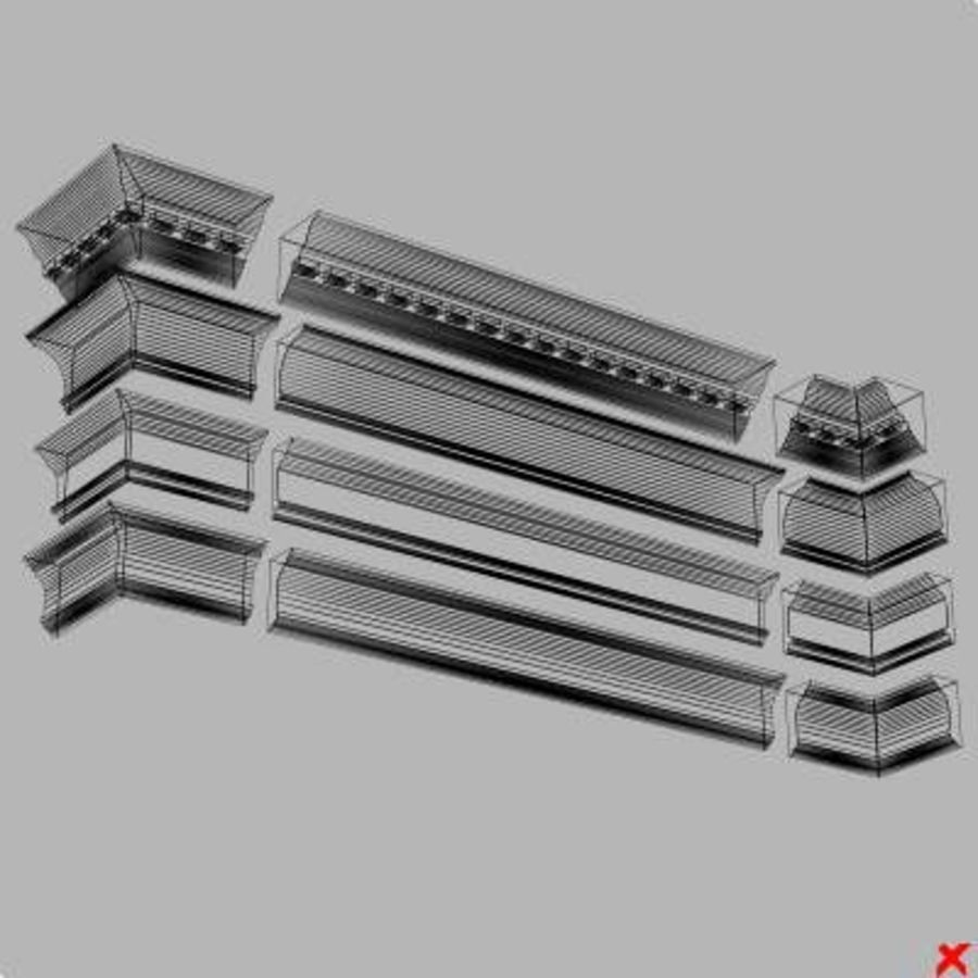 Cornice027.zip royalty-free 3d model - Preview no. 2