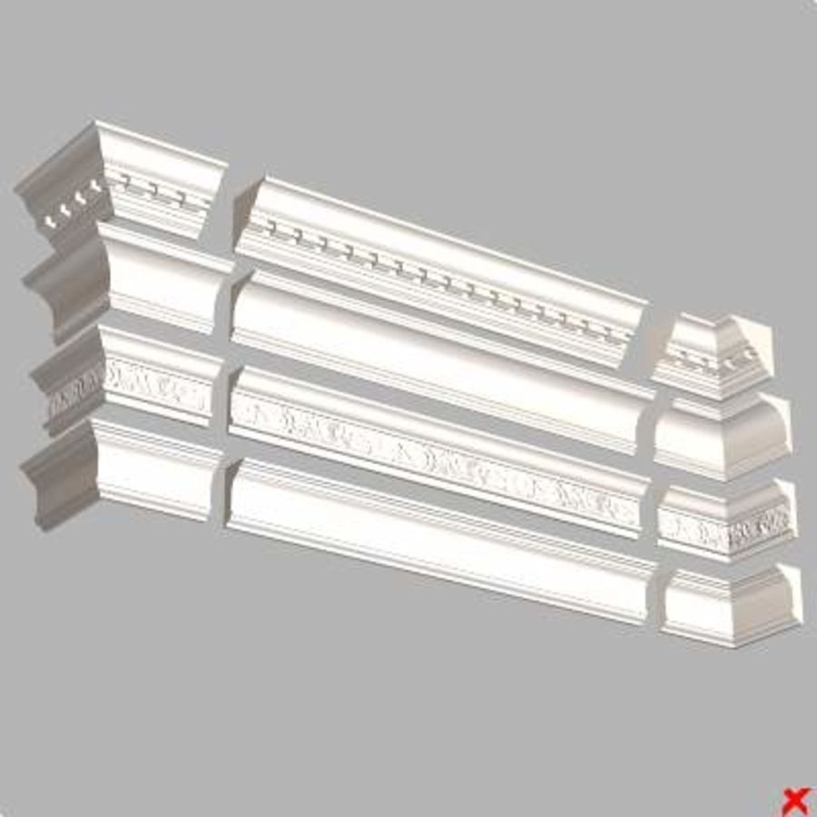Cornice027.zip royalty-free 3d model - Preview no. 1