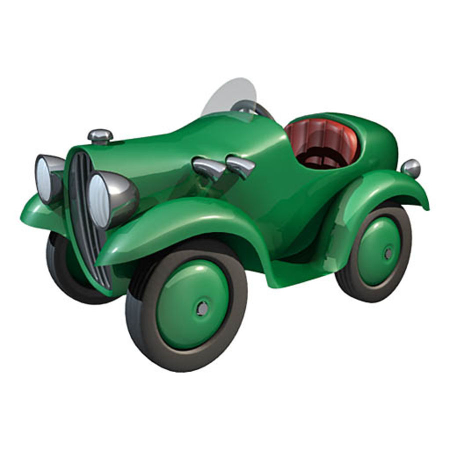 Carro de brinquedo de lata royalty-free 3d model - Preview no. 1