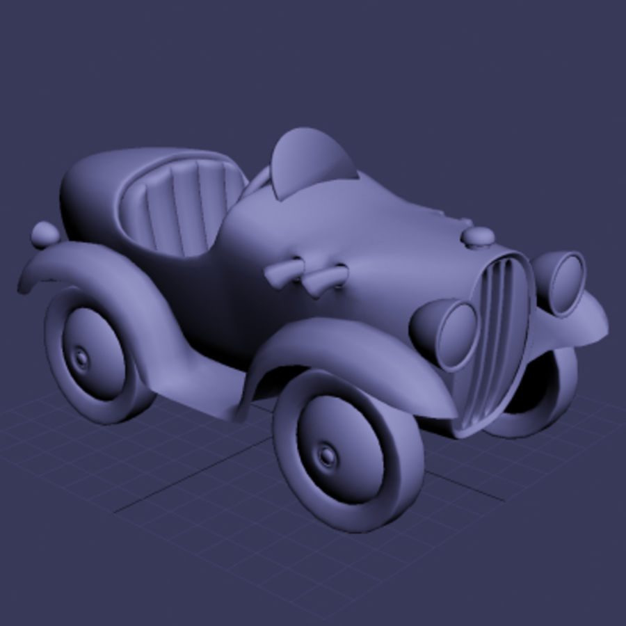 Carro de brinquedo de lata royalty-free 3d model - Preview no. 2