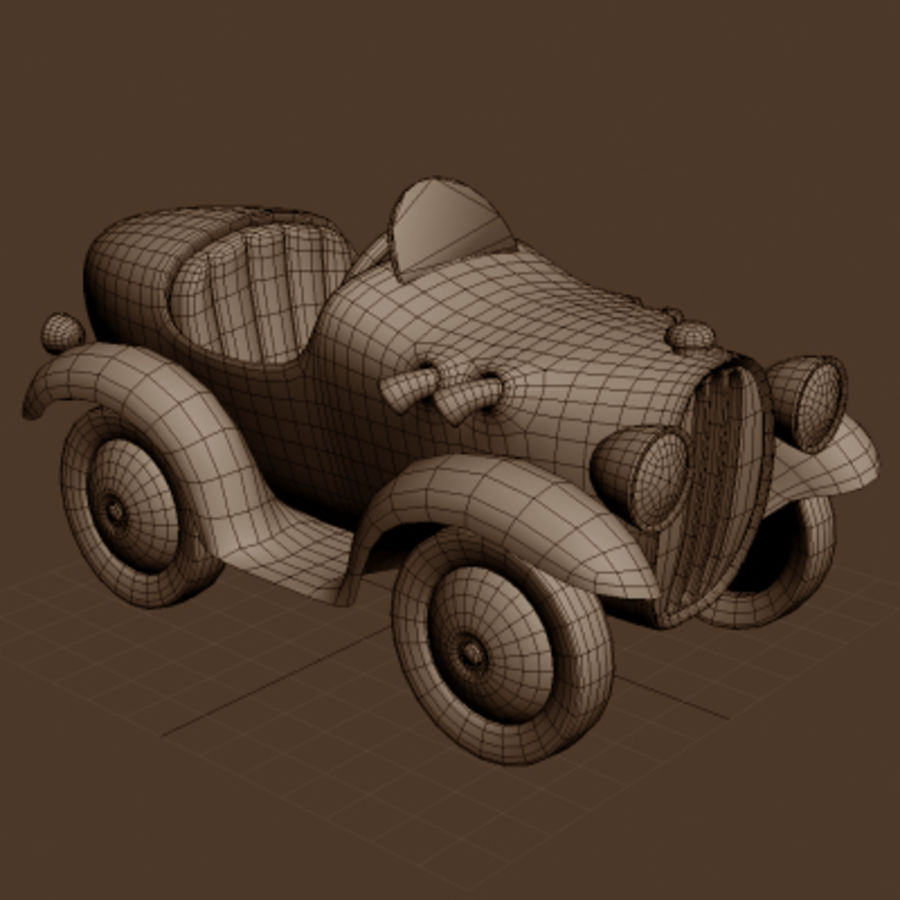 Carro de brinquedo de lata royalty-free 3d model - Preview no. 3