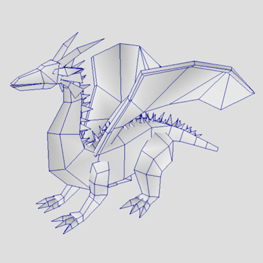 Fantasy Dragon Unit royalty-free 3d model - Preview no. 5