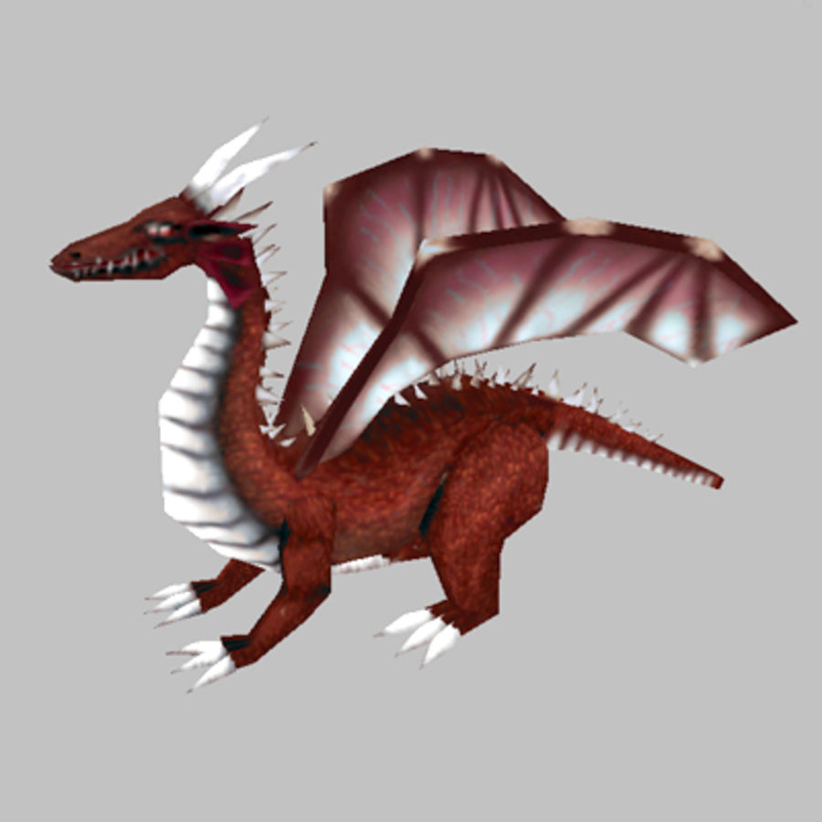 Fantasy Dragon Unit royalty-free 3d model - Preview no. 2