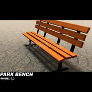 park bench 01 3d model