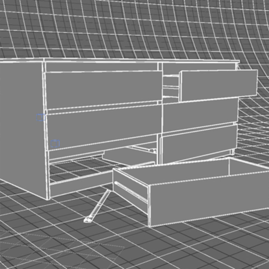 IKEA MALM Kit royalty-free 3d model - Preview no. 18