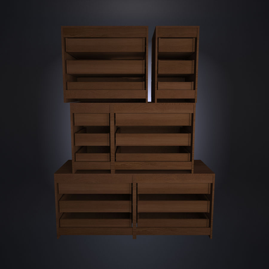 IKEA MALM Kit royalty-free 3d model - Preview no. 3