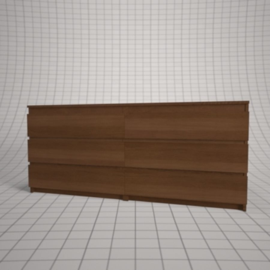 IKEA MALM Kit royalty-free 3d model - Preview no. 21