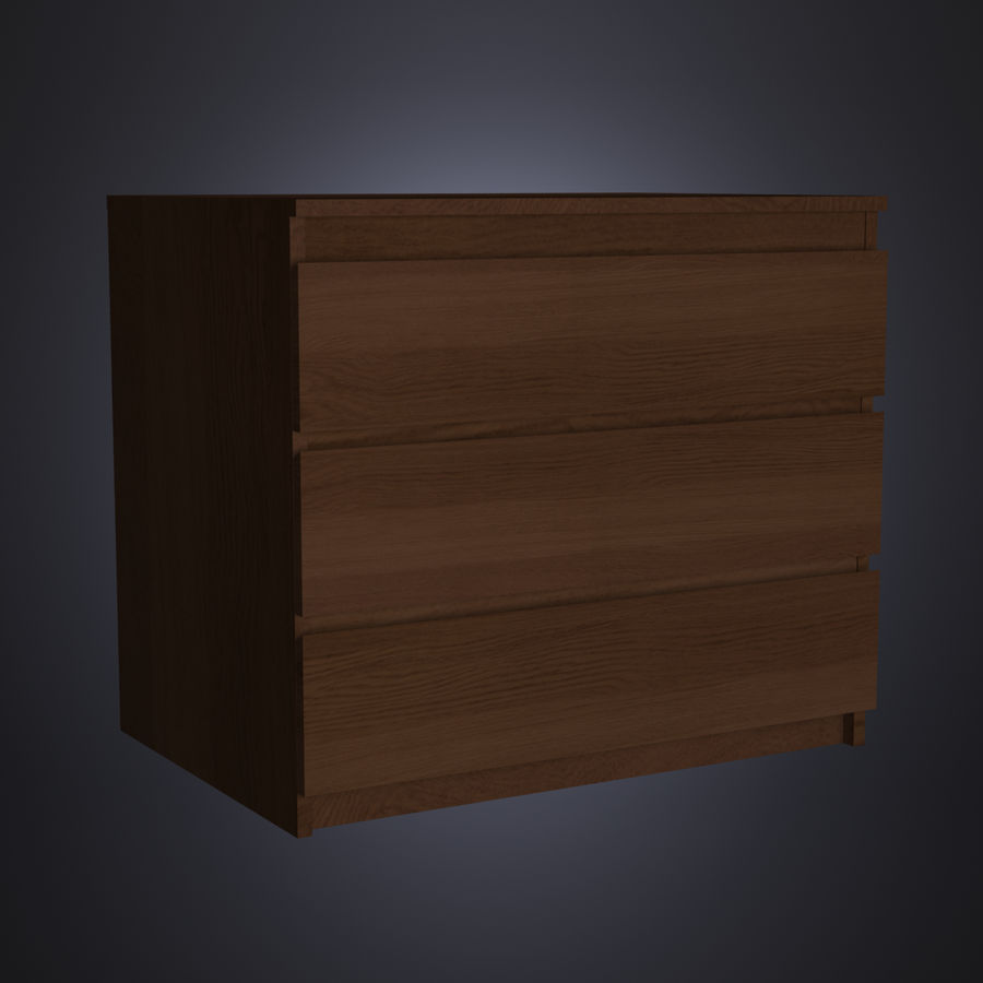 IKEA MALM Kit royalty-free 3d model - Preview no. 8