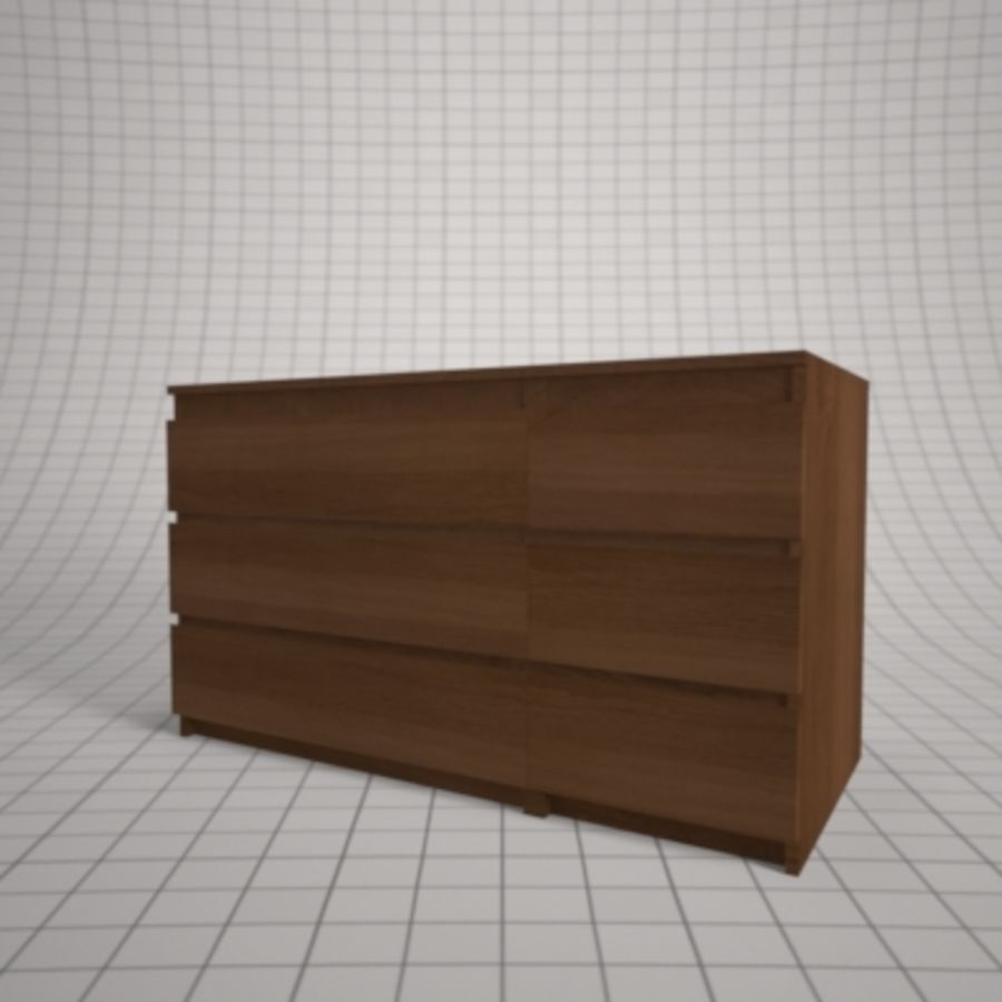 IKEA MALM Kit royalty-free 3d model - Preview no. 25