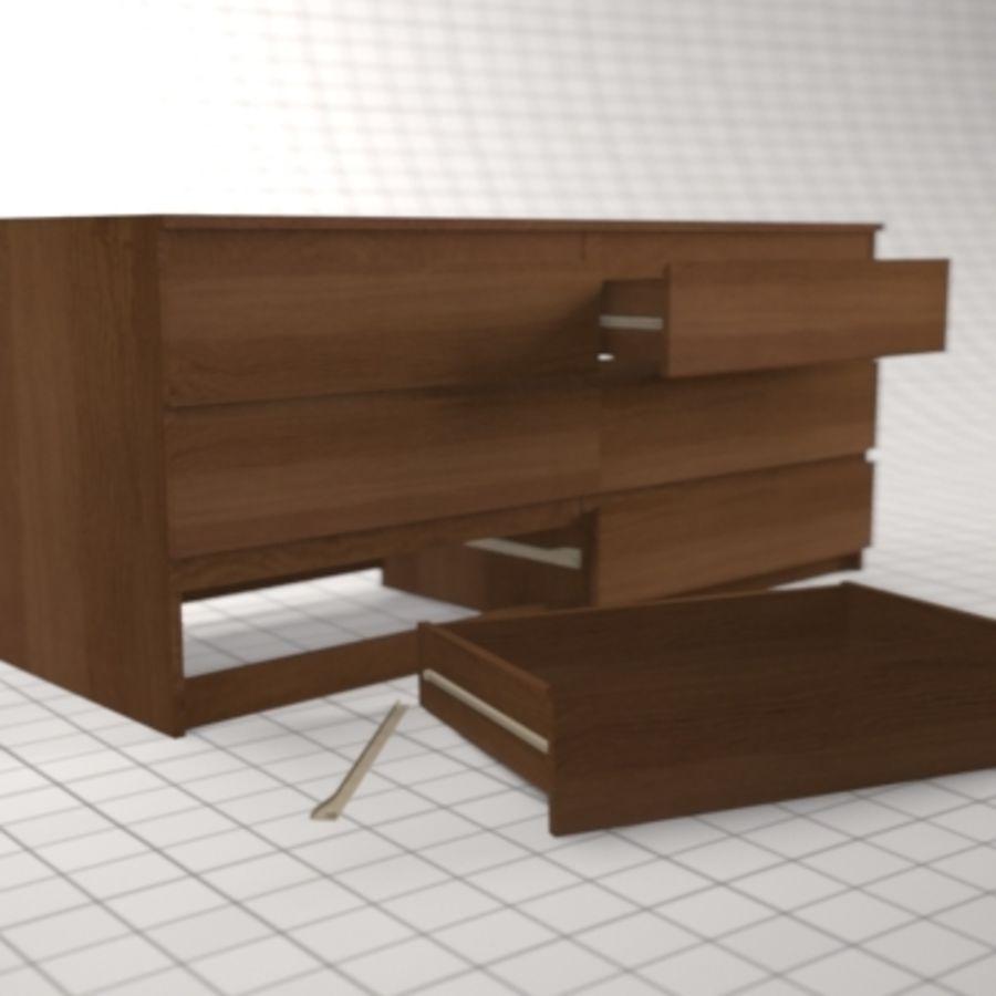 IKEA MALM Kit royalty-free 3d model - Preview no. 17