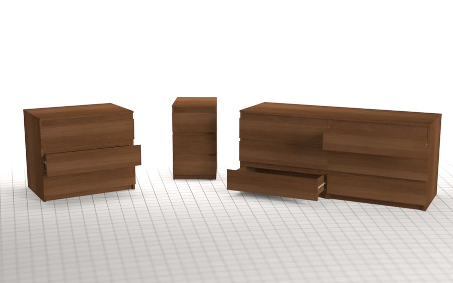 IKEA MALM Kit royalty-free 3d model - Preview no. 14