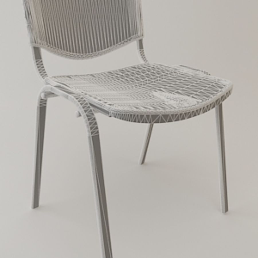 Reception Chair royalty-free 3d model - Preview no. 4